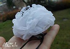 Náramky - čierno & biela anemonka - 4792228_