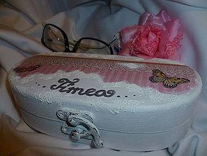 """Taštičky - Púzdro na okuliare s menom """"White&rose"""" :) - 4794044_"""