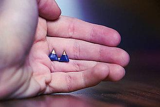 Náušnice - Gold triangle - 4797609_