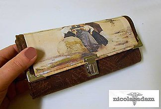 Peňaženky - Harmonika velká - dámy na pláži - 4797770_