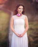 Šaty - Šaty  z mäkkého bodkovaného tylu  - 4796545_