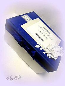 Krabičky - Krabica na svad. pohľadnice - Royal wedding - 4794475_