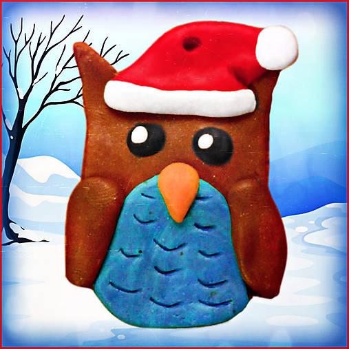 Vianočná sovička (aj) na stromček