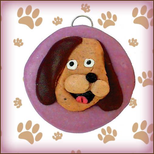 Kľúčenka pre milovníkov psov - fialová
