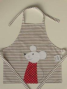 Iné oblečenie - Detská zástera s myškou - 4799613_