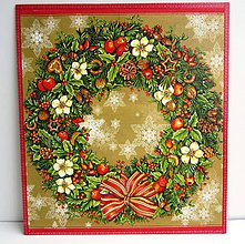 Dekorácie - Vianočný veniec- veľký - 4800283_