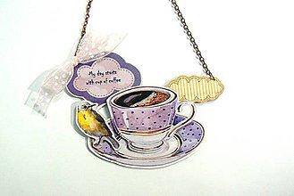 Náhrdelníky - Hrdý coffee lover - 4800890_