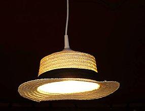 Svietidlá a sviečky - Originálne svetlo - klobúk - 4798624_