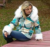 Kabáty - Mozaika - tyrkys - 4801012_