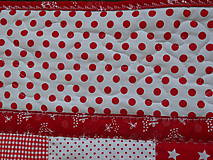 Úžitkový textil - Prehoz patchwork -  červený šach - 4800877_