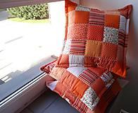 Úžitkový textil - Vankúše - vôňa pomaranča - 4802122_