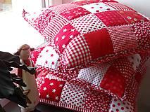 Úžitkový textil - Vankúše - červené kocky - 4802675_