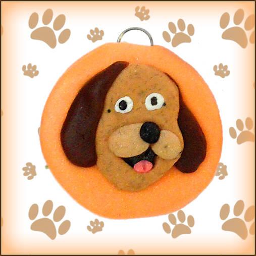 Kľúčenka pre milovníkov psov - oranžová