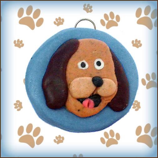 Kľúčenka pre milovníkov psov - modrá
