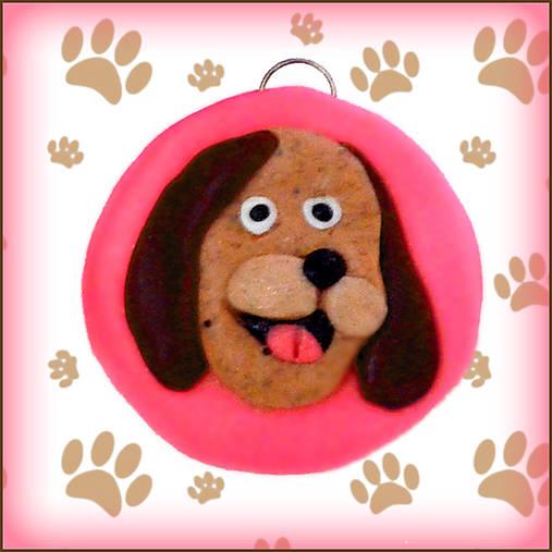Kľúčenka pre milovníkov psov - ružová