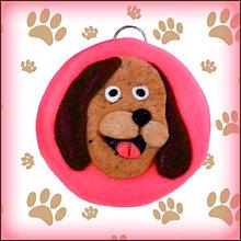 Kľúčenky - Kľúčenka pre milovníkov psov - ružová - 4802444_