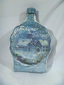 Dekorácie - Vianočná fľaša - 4806060_
