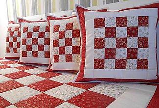 Úžitkový textil - prehoz na posteľ vianočná deka 200x200 cm - 4806685_