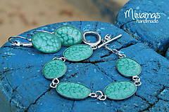Sady šperkov - Tyrkysová vznešenosť - sada ovál - 4804452_