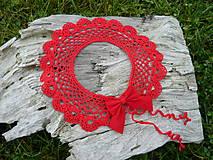 - Háčkovaný Límeček Červená dáma...letný bárter :) - 4804985_