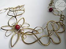 Opasky - Red Flower (akcia -20%) - 4805850_