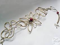 Opasky - Red Flower (akcia -20%) - 4805851_