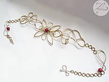 Opasky - Red Flower (akcia -20%) - 4805853_