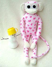Hračky - opička maznáčik - 4805667_