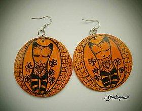 Náušnice - Ňuňuliak oranžový -50% - 4805138_