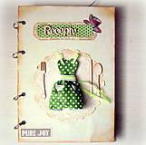 Papiernictvo - Bodkovaný receptárik - 4805033_