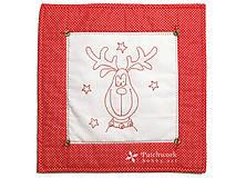 Úžitkový textil - Obliečka na vankúš, Sobík červený - 4804412_