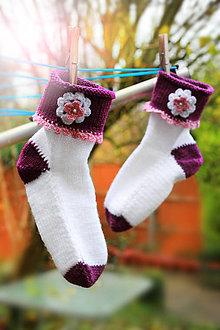 Obuv - Teplé ponožky detské / dámske - 4803354_