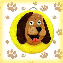 Kľúčenky - Kľúčenka pre milovníkov psov - žltá - 4803657_