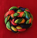 Šály - Barvy čaker...hedvábný MAXI pléd - 4804193_