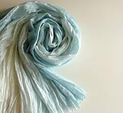 Šály - Blankytně modrý...hedvábný pléd 90x200 - 4804552_