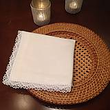 Úžitkový textil - Obrusok slavnostný s čipkou - 4811973_