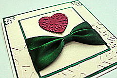 Papiernictvo - Vianočná pohľadnica - srdce s vločkou - 4811696_
