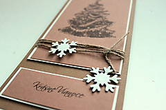 Papiernictvo - Vianočná pohľadnica - prírodná stromček - 4811850_