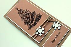 Papiernictvo - Vianočná pohľadnica - prírodná stromček - 4811851_