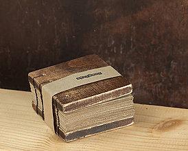 Papiernictvo - Mini Wooden Cube - Rustic Natural - 4808879_