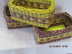 Košíky - Hnedá so žltou - 4809712_