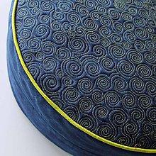 Úžitkový textil - Sedák v temně modré - 4809452_
