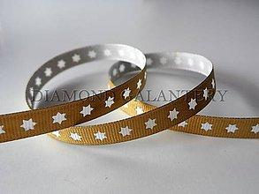 Galantéria - Stuha vianočná zlatá - 4809221_