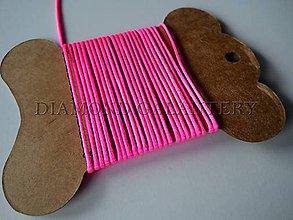 Galantéria - Shamballa šnúrka saténová 1,5 mm Neon pink svetlejšia - 4809404_