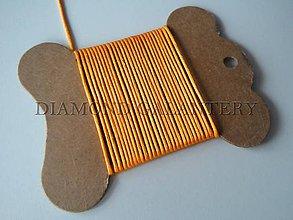 Galantéria - Shamballa šnúrka saténová 1,5 mm oranžová - 4809520_