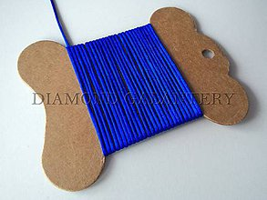 Galantéria - Shamballa šnúrka saténová 1,5 mm kráľovská modrá - 4809547_
