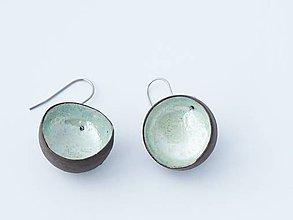 Náušnice - guľky perleťové - 4808952_