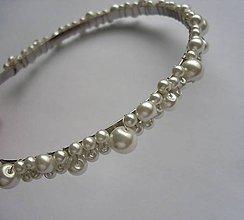 Ozdoby do vlasov - Biele perličky - 4812454_