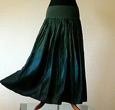 Sukne - Bohyni lesů...dlouhá hedvábná sukně (s dlouhou spodničkou) - 4811117_