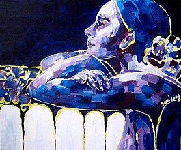 Obrazy - Tma má tvoje oči - obraz na stenu, maľba, originál - 4815160_